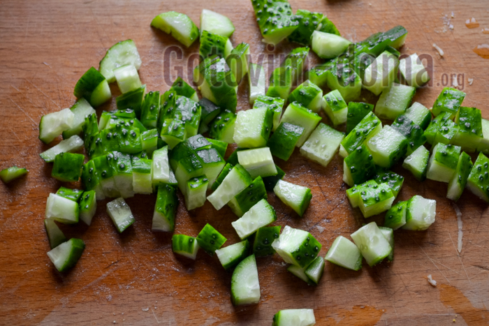 Рецепт салата кукуруза колбаса