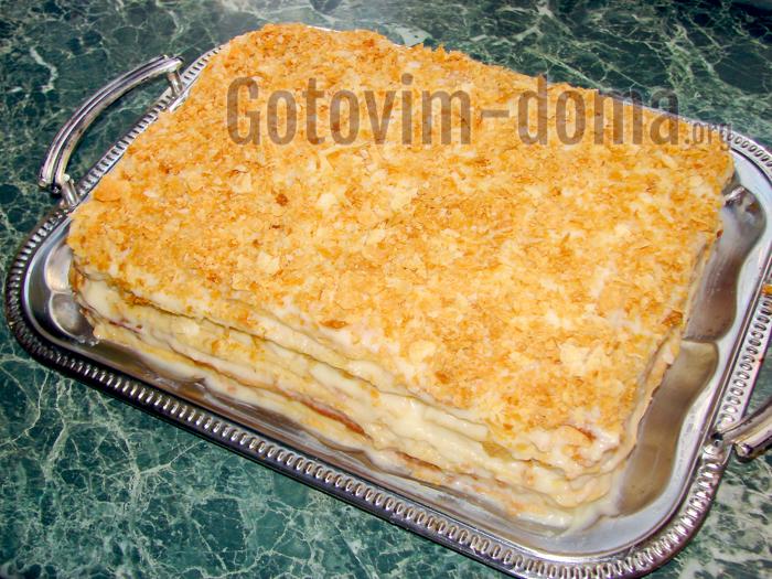Наполеон торт с кремом