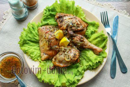 вкусные окорочка в духовке в маринаде рецепт с фото
