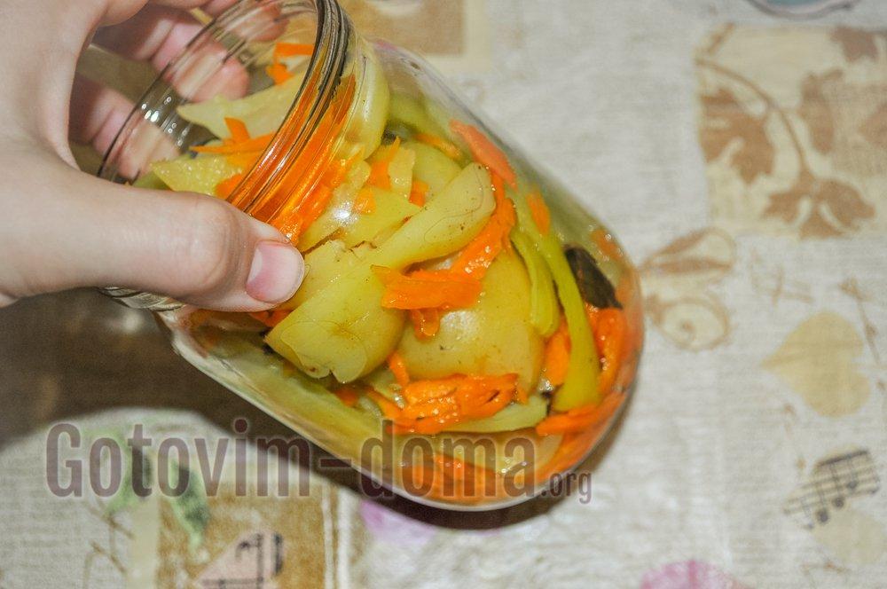 болгарский перец с морковью на зиму в банке