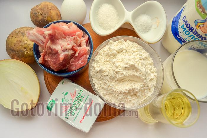 пирожки с мясом в духовке ингредиенты