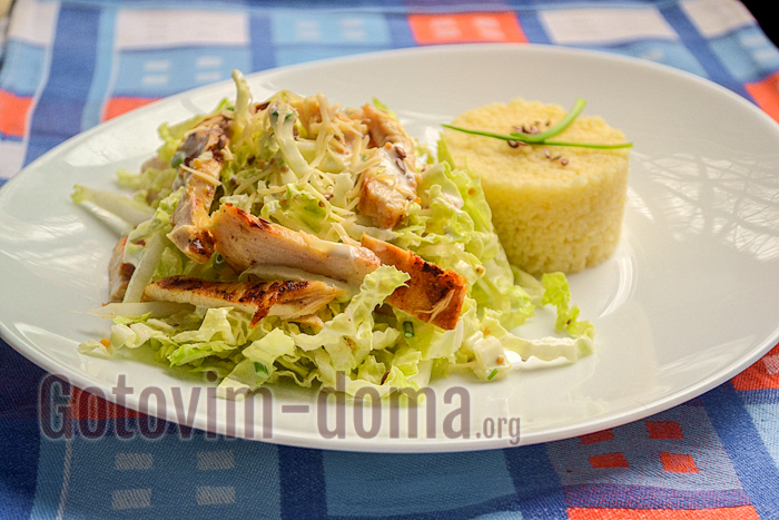 диетический салат из куриной грудки рецепт