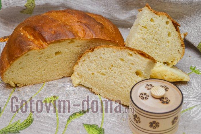 Домашний хлеб на сметане в духовке