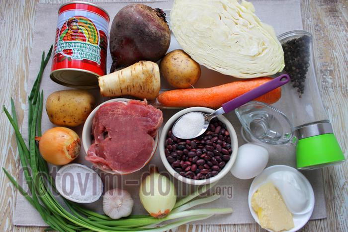 сибирский борщ ингредиенты