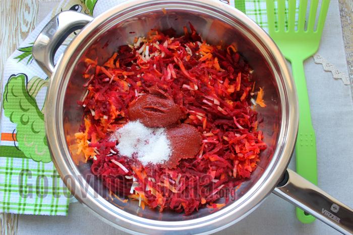 овощная зажарка для сибирского борща