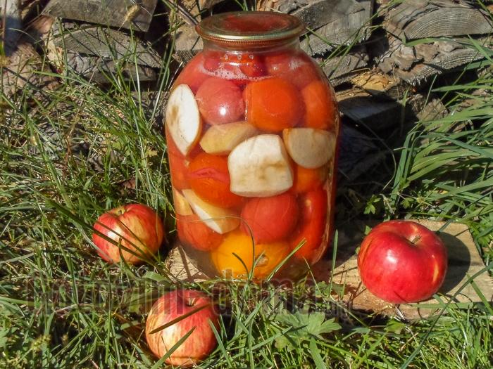 как приготовить помидоры с яблоками рецепт