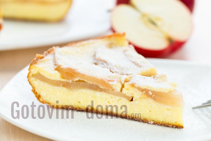 рецепт запеканки с яблоками в мультиварке
