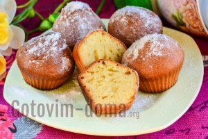 Творожные кексы со сметаной
