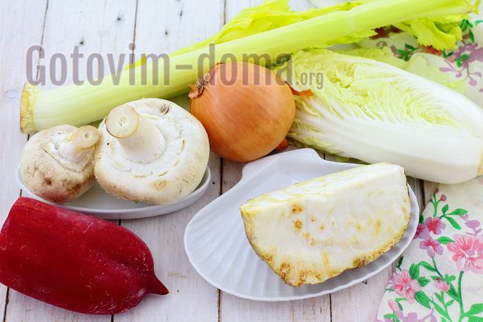 Ингредиенты для приготовления диетического овощного супа