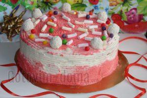 Бисквитный домашний торт, рецепт с фото