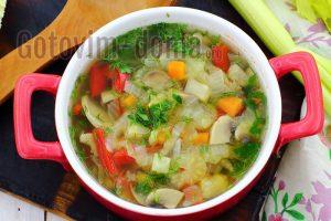 Как приготовить диетический овощной суп, фото-рецепт