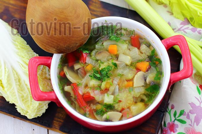 Простой рецепт диетического супа