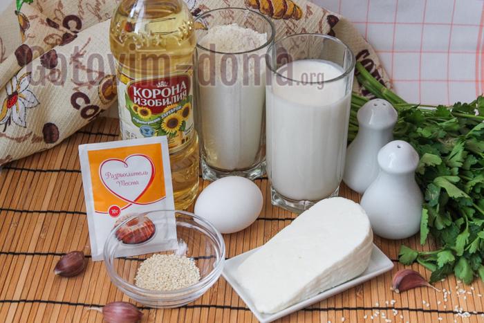 маффины-кексы с сыром и укропом ингредиенты