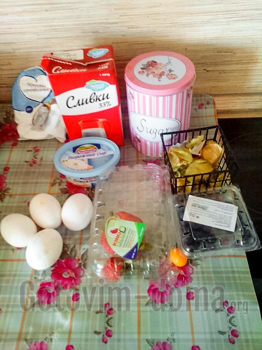 Ингредиенты для приготовления мини пирожных Павлова