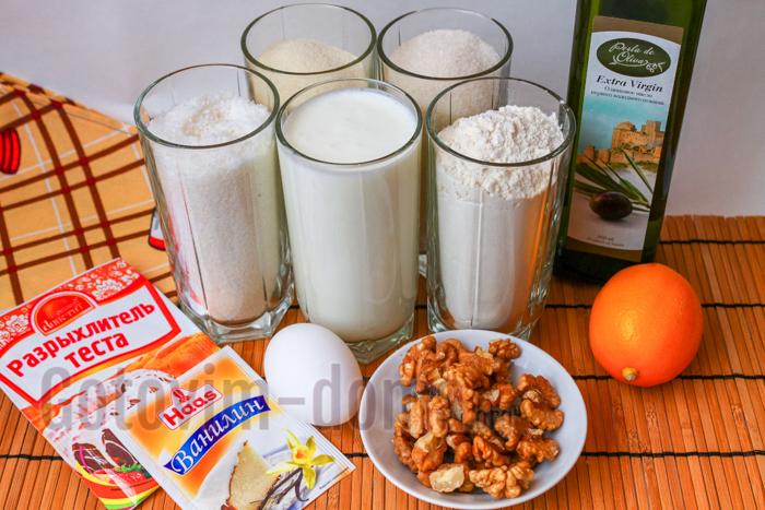 Ингредиенты для приготовления арабской сладости