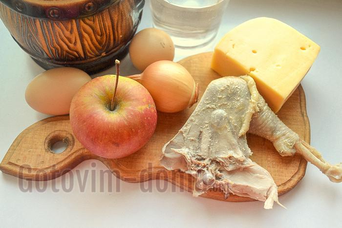 Ингредиенты для приготовления блинов с начинкой