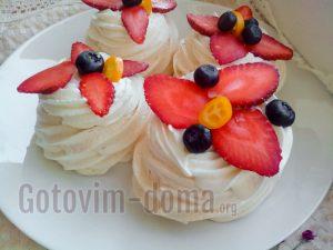 Как приготовить просто пирожные Павлова