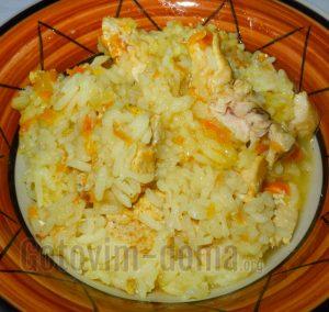 курица с рисом в мультиварке рецепт