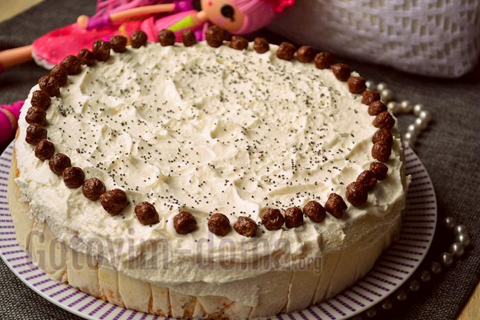 Домашний бисквитный торт, пошаговый рецепт с фото