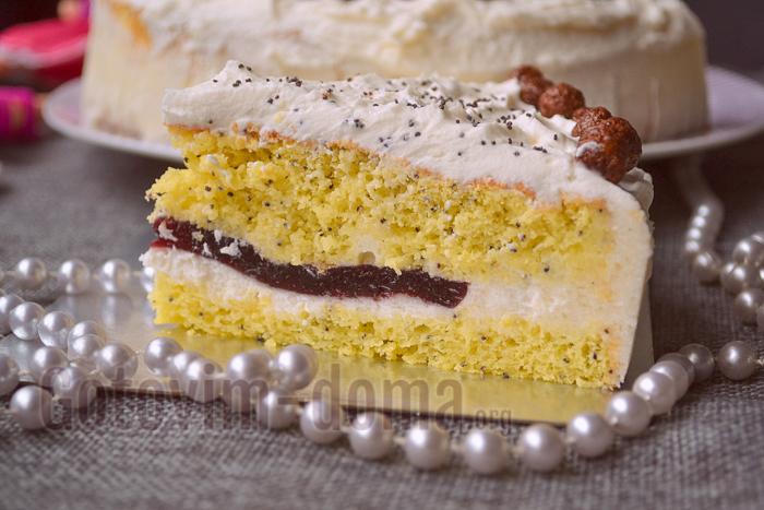 рецепт простого бисквитного торта