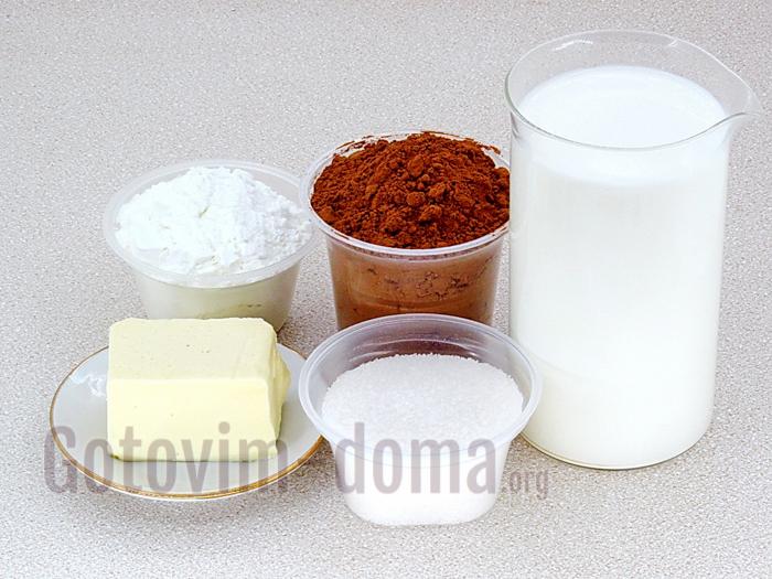 шоколадный десерт ингредиенты