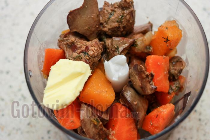 Домашний паштет из куриной печени, рецепт с фото