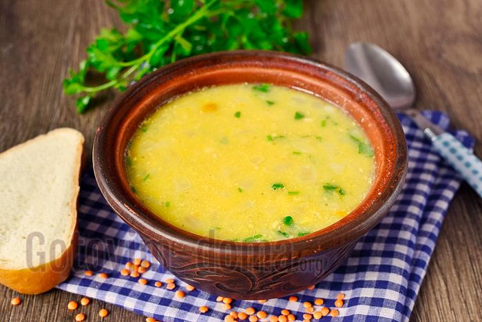 Быстрый рецепт чечевичного супа с курицей