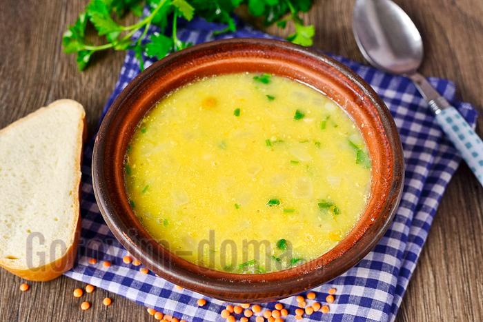 Простой рецепт супа из чечевицы и курицы