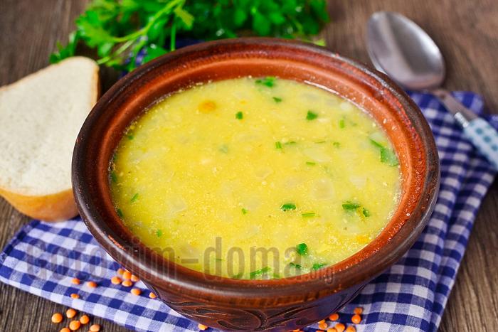 Простой рецепт супа с чечевицей