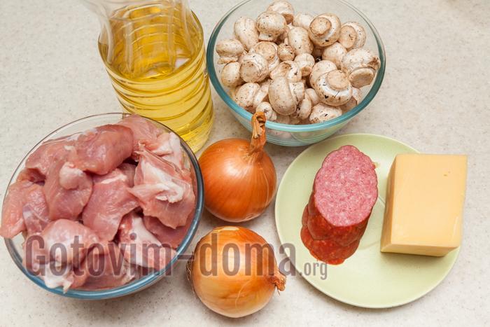 котлеты с колбасой ингредиенты