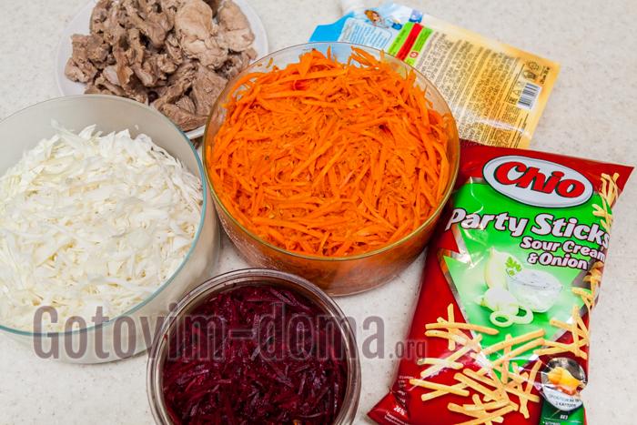 салат татарский с говядиной рецепт с фото