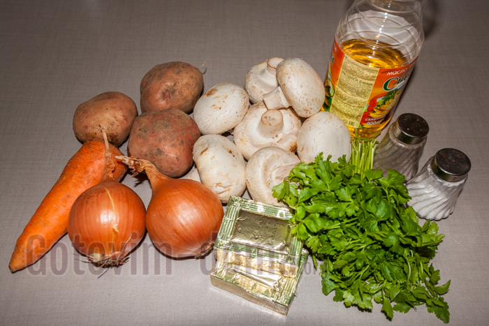 грибной суп ингредиенты