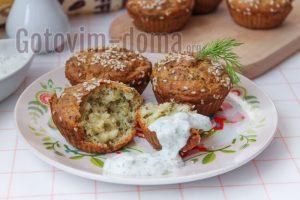 маффины-кексы с сыром и укропом