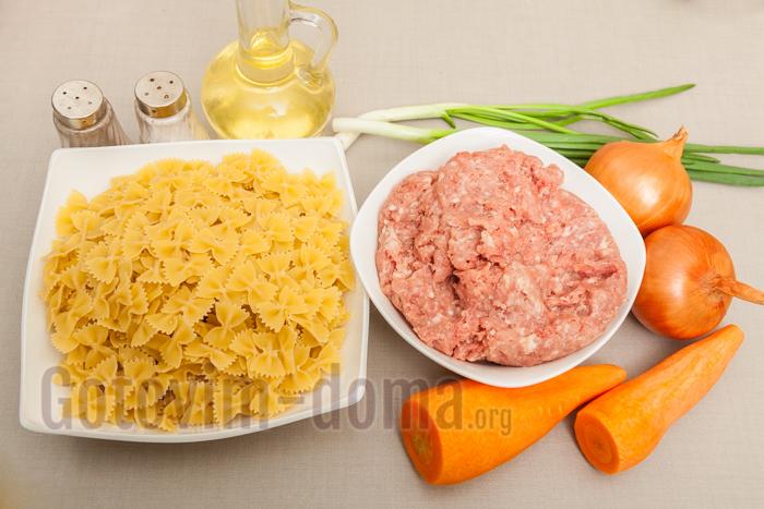 паста с фаршем ингредиенты