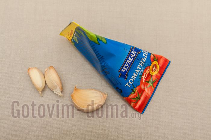 томатная паста и чеснок