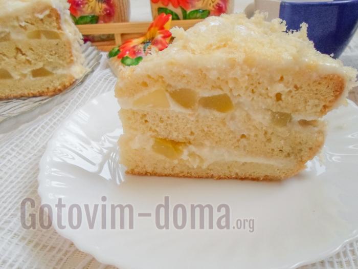 ананасовый торт рецепт