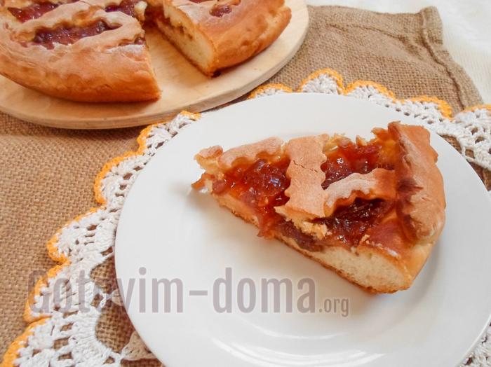 домашний пирог с вареньем рецепт с фото