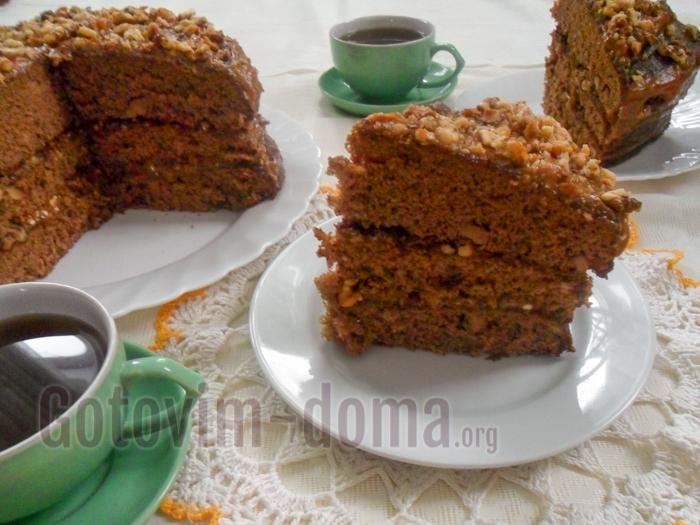 Торт Золотой ключик в домашних условиях, рецепт с фото