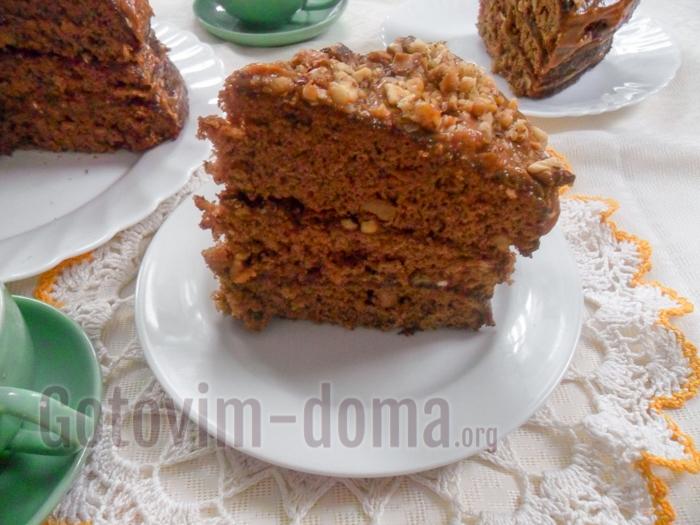 торт золотой ключик домашний