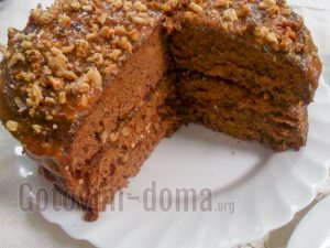 торт золотой ключик готовим дома