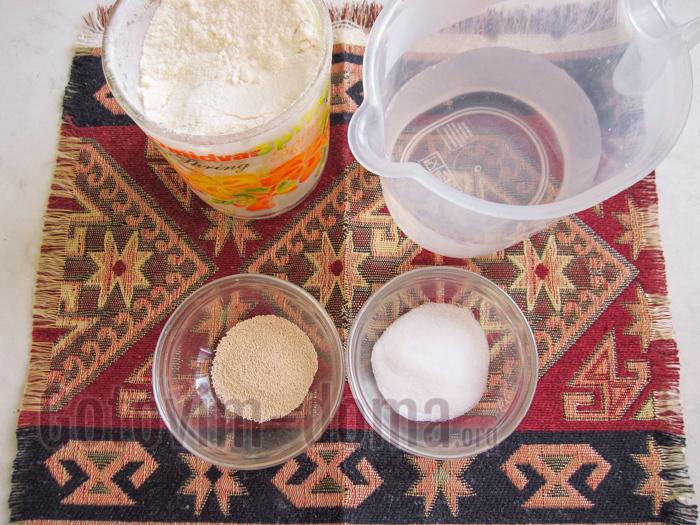 Ингредиенты для приготовления армянского хлеба