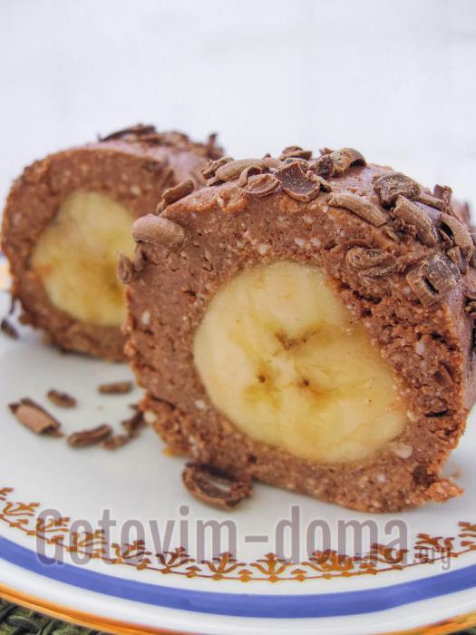 Творожный десерт с бананом, рецепт с фото