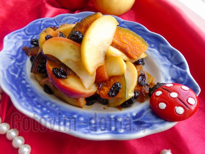 десерт из тыквы с мёдом