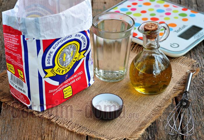 Ингредиенты для приготовления лепешек