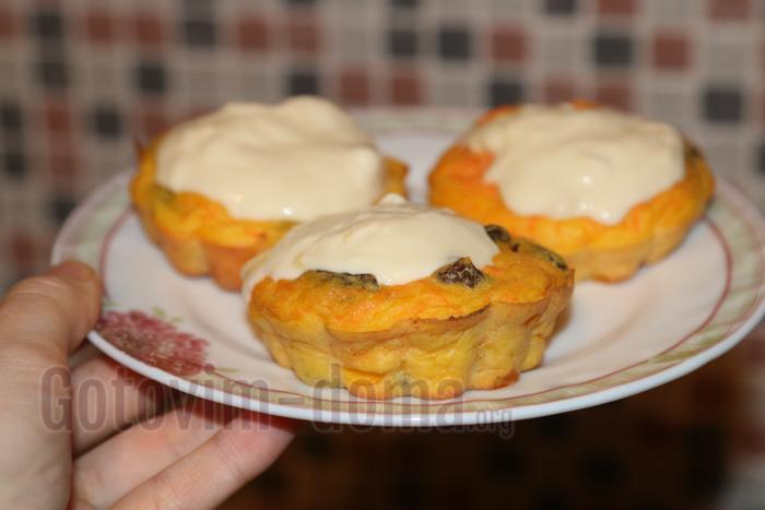 Пошаговый рецепт творожно-морковных кексов