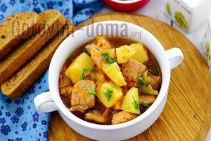 Как быстро приготовить картошку с мясом в мультиварке