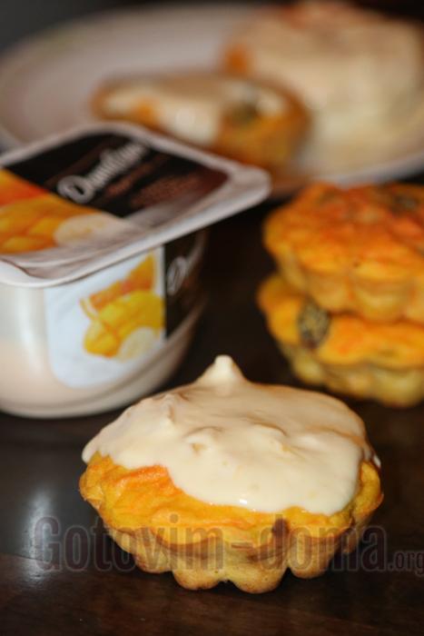Рецепт кексов с творогом и морковью