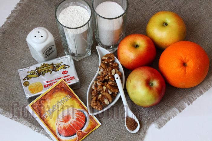 Ингредиенты для приготовления яблочного пирога