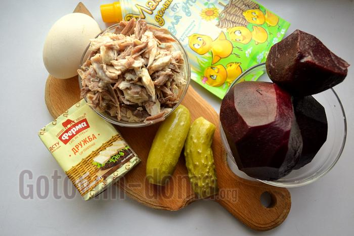 Ингредиенты для приготовления закусочного торта