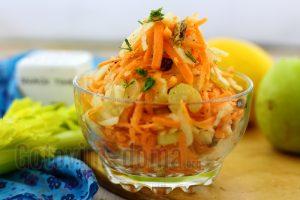 рецепт салата из моркови и сельдерея стеблевого